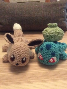 Baby Eevee and baby Bulbasaur