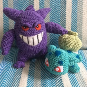Gengar looms over the little folk